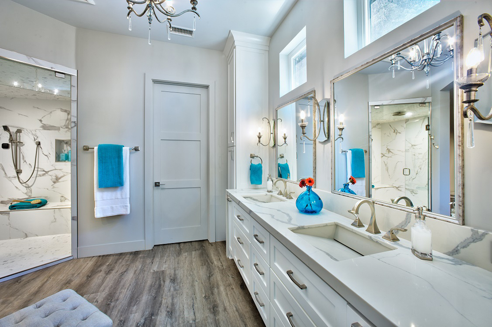 Lake Almanor Master Bathroom New Construction 3