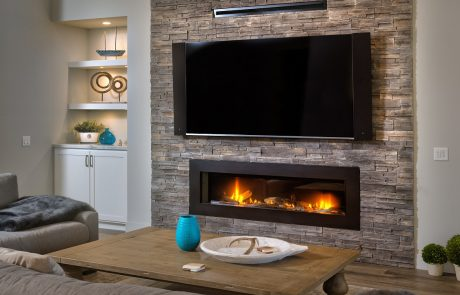 family room fireplace design