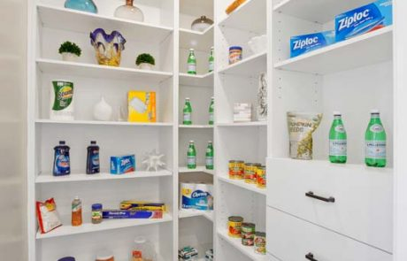 pantry with food items
