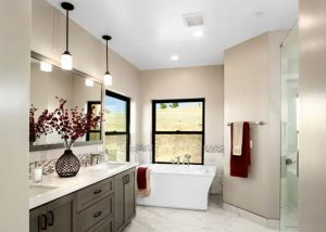 Folsom Upper Level Master Bathroom New Construction 4