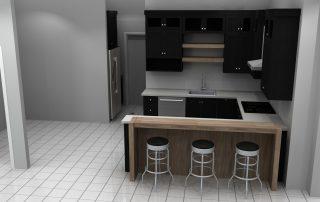 small kitchen area