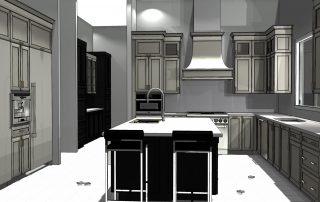 kitchen plan drawing