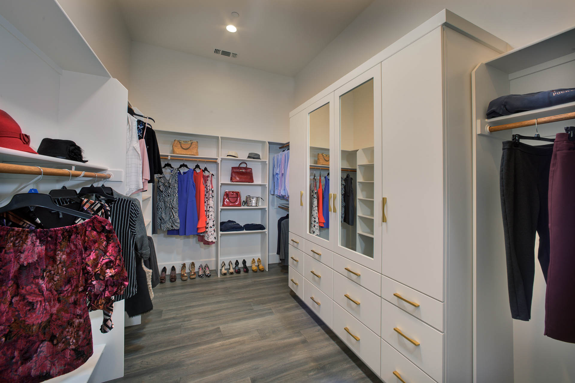 Folsom Walk-In closet with Mirror Doors New Construction 1